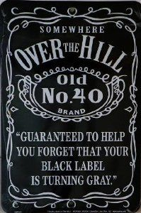 Over The Hill Vinyl Cutouts Kit 16ct Decorations 60th To