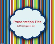 Free Types of Clouds PowerPoint Template for presentations