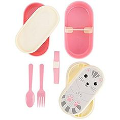 Nori Cat Kawaii Friend Bento Box available to buy direct from Sass & Belle, for the little things in life. Bento Kawaii, Cat Kawaii, Picnic Plates, Plastic Forks, Sass & Belle, Kawaii Accessories, Lunch Containers, Bento Box Lunch, Lunch Boxes