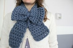 Love City: Crochet Love { Chunky Bow Scarf }