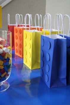 Lego block party bags // Love this DIY idea!