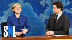 [Video] SATURDAY NIGHT LIVE ~ Kate McKinnon as Angela Merkel on Weekend Update. December 10, 2016. (3:48)