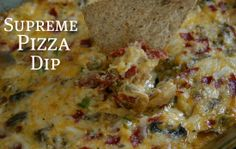 Supreme-Pizza-Dip from the Pocket Change Gourmet - at the blog hop at Gooseberry Patch!