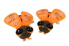 Little Bee Party Favor Novelty Toy (Pack of 2) | Wind it up & watch it Roll w/ Buzzing Sounds & Flapping Wings! Wings Flap & Buzzing Sounds. Great for Birthday Parties! Makes Great Party Favors! Teach your Kid about Insects! Seller: Merchant Mike - 30 Days Free Returns! Satisfaction Guaranteed!