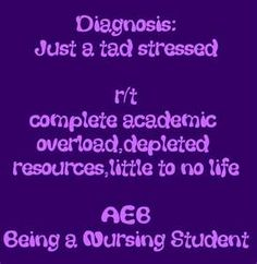 Well...this applies to you...just crop out the nursing student part.  Grad school students get pretty stressed out, too!!!