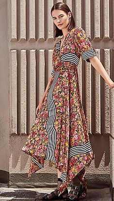 fc8db2e9 Dresses | Women's Dresses. Studio by Preen - Multi-coloured floral striped  ...