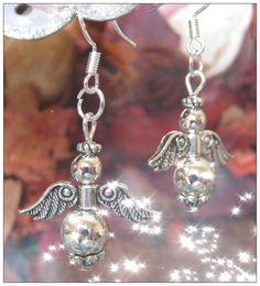 Handmade Silver Guardian Angel Earrings by by IreneDesign2011