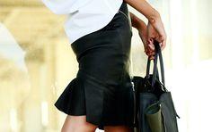 McQ Alexander McQueen Black Leather High-waisted Skirt - ...