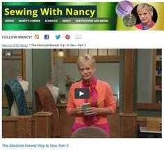 Absolute+Easiest+Way+to+Sew+on+Sewing+With+Nancy+|+Nancy+Zieman