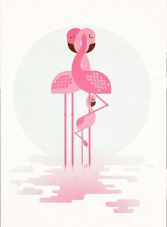 Hey, I found this really awesome Etsy listing at https://www.etsy.com/listing/179300573/personalised-retro-flamingo-family-print