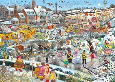 I Love Winter 1000 piece jigsaw puzzle by Mike Jupp Canada | CanadaPuzzles.ca