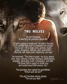 """While I don't completely agree with the definition of the evil wolf (sorrow is not """"evil"""", nor is regret), I like this quote."""