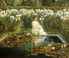 Lilies, 1910, Frederick Childe Hassam 1859-1935,  Its About Time: Gardens from France to America: