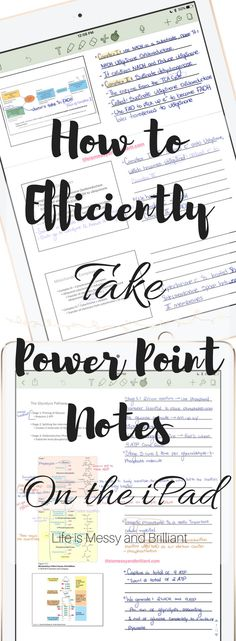 How to Efficiently Take Power Point Notes on the iPad - Study Tips - Productivity - Organizing Tutorial