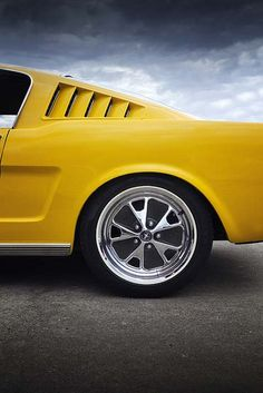 Yellow Fastback Mustang