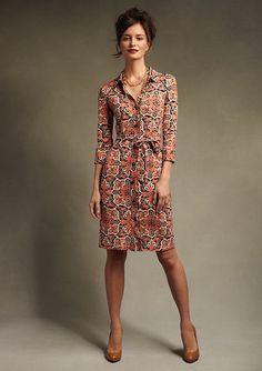 Talbots paisley matte jersey shirtdress by redchairconfessions, via Flickr