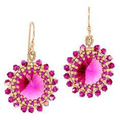 Flashbulb Fuchsia Earrings | Fusion Beads Inspiration Gallery