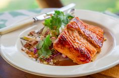Grilled Fish with Rainbow Salad and Asian Dressing - Sarah Graham Food Fish Recipes, Seafood Recipes, Salad Recipes, Healthy Recipes, Sarah Graham, Cooking Channel Shows, Asian Dressing, Rainbow Salad, Fish Salad