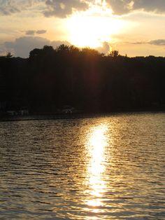 LAKE HOUSE, SIX MILE LAKE IN MICHIGAN  WHERE SUNSET MESMERIZER YOU