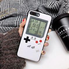 iPhone 8 Plus Gameboy Case Phone Cover Retro White #iphone8case,