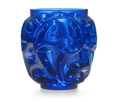TOURBILLONS VASE, NO. 973 designed 1926, executed post-war, midnight blue crystal, engraved Lalique France, 403/999, 8 ⅛ in. (20.8 cm.) high