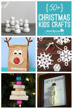 50+ Christmas Kids Crafts to Make Pinterest Saved By Love Creations @savedbyloves #crafts #christmas
