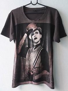 Marilyn Manson Pop Art Film Rock TShirt L by diettee on Etsy, $14.99