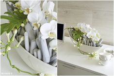 Tiziano Schale Riva mit Orchideen Deko