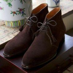 f6946781024 Handmade-Mens-dark-brown-suede-chukka-boots-Men-