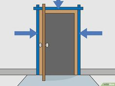 How to Paint a Door Frame. Whether you're completely redoing the interior of your home or just want to change the style of your molding, painting a door frame is a quick and easy project. Start by removing the door from its hinges, then. Painting Door Frames, Painting Metal Doors, Painting Tile Floors, Door Frame Molding, Wood Door Frame, Wood Doors, Painted Exterior Doors, Painted Doors, Paint Steel Door