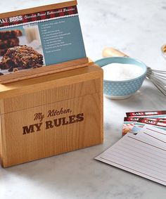 Another great find on #zulily! 'My Kitchen' Beechwood Recipe Box by Cake Boss #zulilyfinds