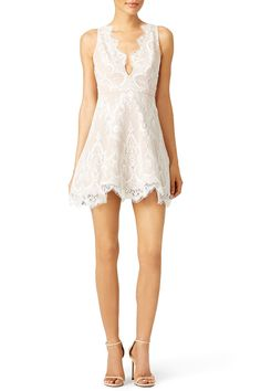 Rent Ivory Lace Chandelier Dress by STYLESTALKER for $50 only at Rent the Runway.