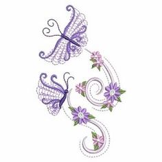 Petals in Flight 8 - 3 Sizes! | What's New | Machine Embroidery Designs | SWAKembroidery.com Ace Points Embroidery