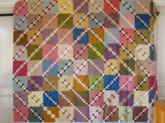 Double 4 Patch by http://quiltingstories.blogspot.com/2015/10/double-four-patch-on-board-again-blocks-fabrics.html