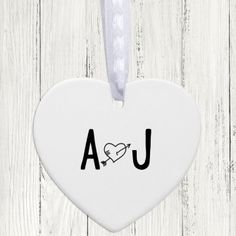 Personalised Ceramic Heart Keepsake - Initials