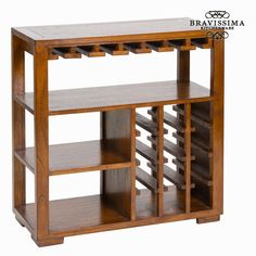Bottle Rack Mindi Wood X 80 X 35 Cm) - Serious Line Collection By Bravissima Kitchen Decor, Furniture, Kitchen Bottle Rack, Shelves, Wine Cabinets, Home Furniture, Bottle Rack, Wooden Shelves, Mini Bar