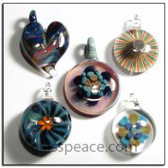 Glass Pendants lampwork focal beads Wholesale Lot by Glass Peace $55.00