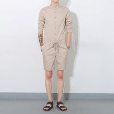 2017 Wholesale Men Fashion Casual Short Sleeve Tees Shirt Jumpsuits Shorts Overalls Summer 2016 New Men One Piece Rompers Shorts From Simmer, $50.64   Dhgate.Com