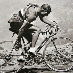 Gino Bartali during the 1948 Tour de France. Bartali, born in Florence in 1914, was a champion road cyclist who won the Giro d'Italia race 3 times (in 1936, 1937 and 1946) and the Tour de France twice (in 1938 and 1948). Bartali, who was known to cover large distances with his bicycle for training purposes, transferred forged documents hidden in the handlebar and seat of his bicycle from one place to another.