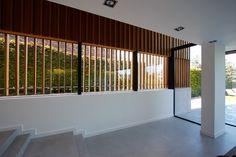 minimal pivoting window in new build house