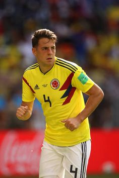 Santiago Arias of Colombia in action during the 2018 FIFA World Cup Russia group H match between Colombia and Japan at Mordovia Arena on June 19 Russia 2018, June 19, Fifa World Cup, Artsy Fartsy, Crushes, Soccer, Action, Japan, Group