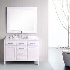 "Design Element 48"" London Stanmark Single Sink Vanity Set in White, Gray or Espresso - DEC076C"