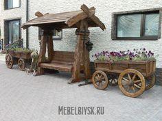 Деревянные уличные изделия под старину