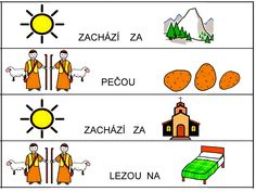 Cteme basnicky s obrazky Worksheets, Activities, Comics, Learning, Logos, Czech Republic, Babies, Musica, Autism