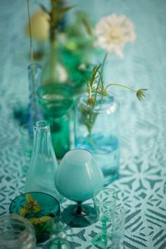 <3 blue and green glass <3