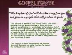 Gospel Power LENT 2C – Friday