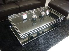 Furniture Sydney, Lounges, Kids Bed, Outdoor, Entertainment TV Units Ractangular Black Glass Coffee Table AL3271B Furniture Home