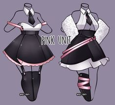 Pink Unit outfit adopt [close] by Miss-Trinity on DeviantArt - Drawing clothes -