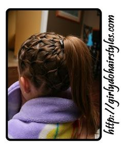 Everything this lady does to her daughter's hair is amazing, but how does she get her to sit still for that long? Dance Hairstyles, Little Girl Hairstyles, Pretty Hairstyles, Braided Hairstyles, Gymnastics Hairstyles, Soccer Hairstyles, Toddler Hairstyles, School Hairstyles, Braided Ponytail