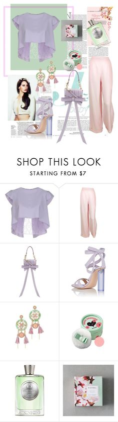 """""""Mint and lilac rapsody."""" by jelena-bozovic-1 ❤ liked on Polyvore featuring Alex Vidal, Chanel, Niels Peeraer, Gianvito Rossi, Deepa Gurnani, The Face Shop and Atkinsons"""